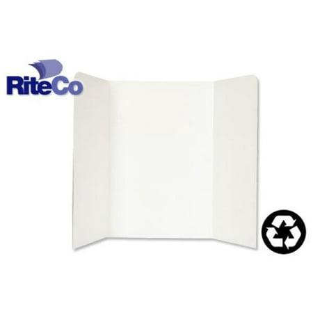 RiteCo Raydiant 22101 Riteco Tri-Fold Presentation Boards 48 In. X 36 In. White, 24 Pack