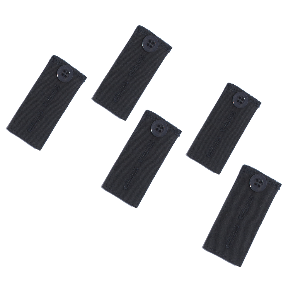 Adjustable Pant Waistband Extension - Instant Comfort, Pants Fit Again (Button 5-Pack, Black)