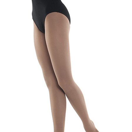 - Danshuz Girls Light Suntan Nylon-Micro Spandex Convertible Tights 6X-14