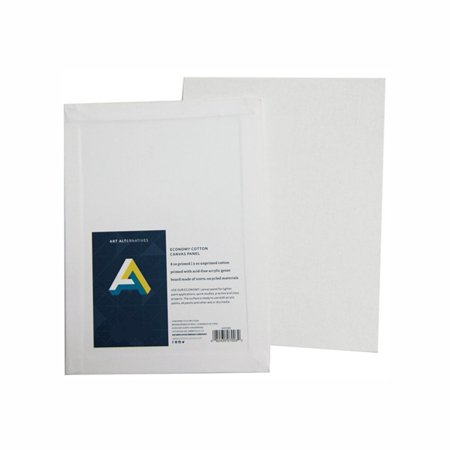 Canvas Panel (11 X 14) PACK OF 12, Primed with an acrylic gesso for painting in any medium By Art (Best Gesso For Canvas)