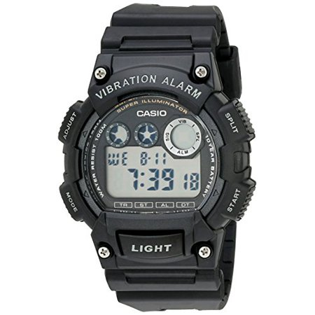 Casio Mens W735h 1Avcf Super Illuminator Watch With Black Resin Band