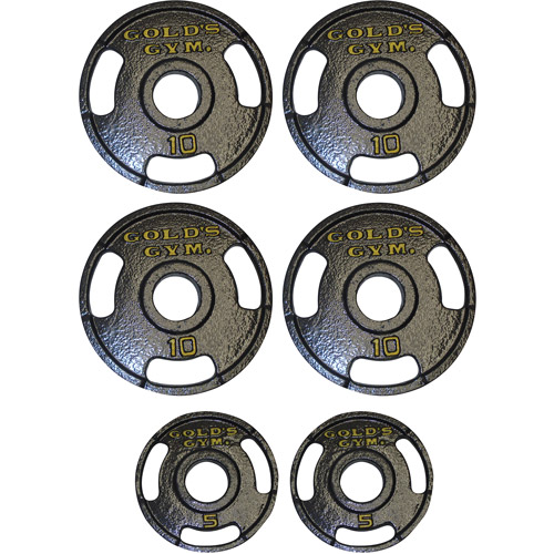 Gold's Gym 50-lb. Olympic Plate Set