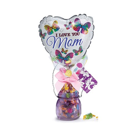 Happy Mothers Day Purple Candy Vase