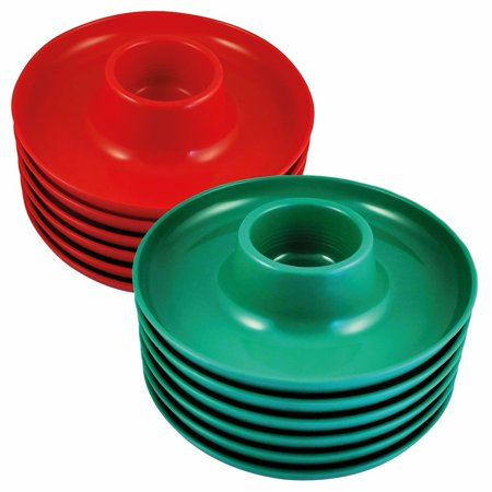 The Great Plate - Party Plate With Built In Cup Holder - Set Of 12 ...