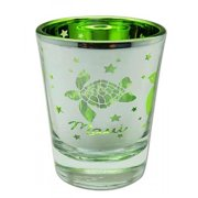Hawaii Shot Glass Metallic Honu Turtle Aloha Maui by KC Hawaii