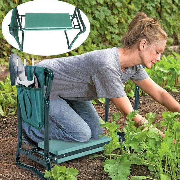 Folding Garden Kneeler Seat Gardening Kneeling Foam Padded Bench Stool Portable