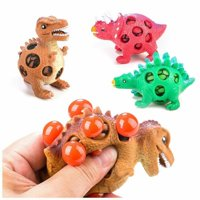 3 Pcs Dinosaur Stress Relief Toys for Kids and Adults Mesh Dinosaur Squeeze Ball