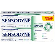 Sensodyne Complete Protection Sensitive Toothpaste, Extra Fresh, 3.4 Oz, 2 Pack