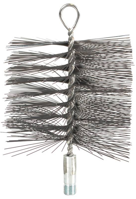 Imperial BR0123 Square Chimney Cleaning Brush, 6 x 6 in, Wire Bristle Trim by Imperial Manufacturing