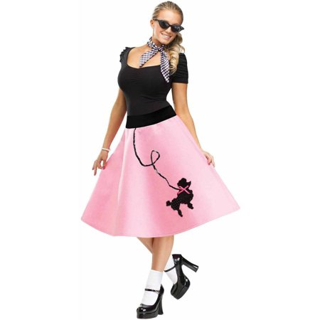 Adult Poodle Skirt Women's Adult Halloween Costume](Adult Pebbles Halloween Costume)