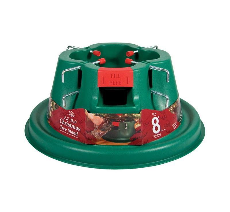 Home Logic 206-6 E.Z. H20 Christmas Tree Stand, Plastic, Green