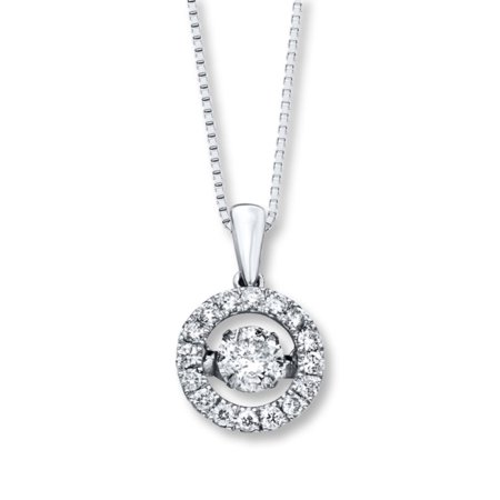 Beautiful 2.85 Carat Round Cubic Zirconia Dancing Diamond Necklace In 925 Sterling Silver