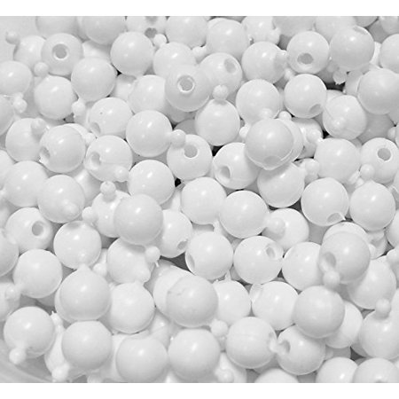 12mm White Color JOLLY STORE Crafts Pop Snap Beads 1gross/144pc made in USA (Online Bead Stores)