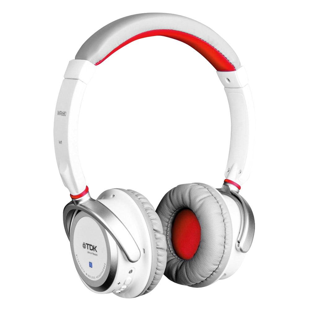 TDK WR680 Wireless Bluetooth Headphones - White