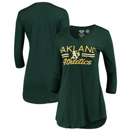 Oakland Athletics Concepts Sport Women's Duo V-Neck Nightshirt - (V-neck Nightshirt)