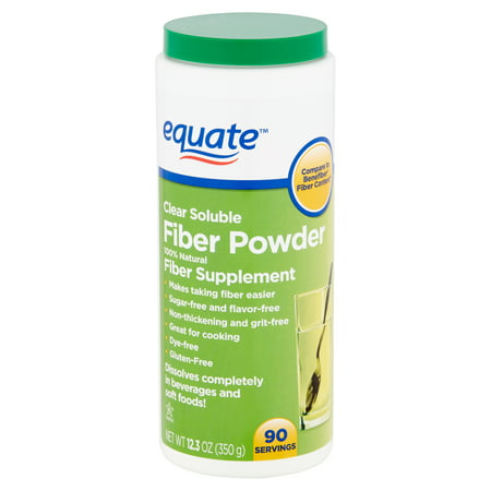 Equate Clear Soluble Fiber Powder, 12.3 oz
