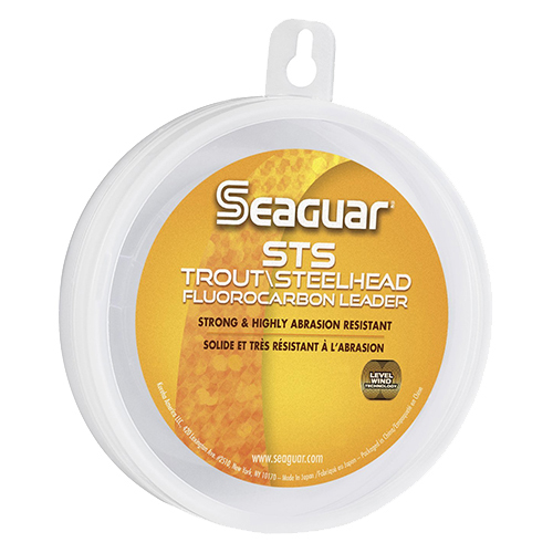 "Seaguar STS SAalmon and Trout SteelHead Saltwater Fuorocarbon Line .012"" Diameter, 12 lb Tested, 100 Yards, Clear"