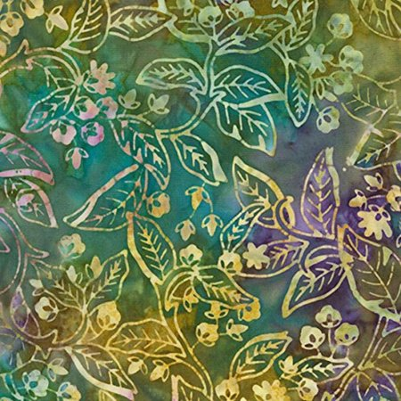 Tonga Batik Orchid Nature Fabric by the Yard, Gypsy, Fabric Type: 100% Cotton By Timeless - Gypsy Treasure