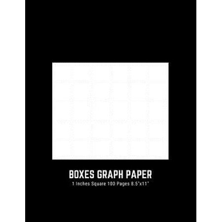 Bx Presentation Book - Boxes Graph Paper 1 Inches Square 100 Pages 8.5