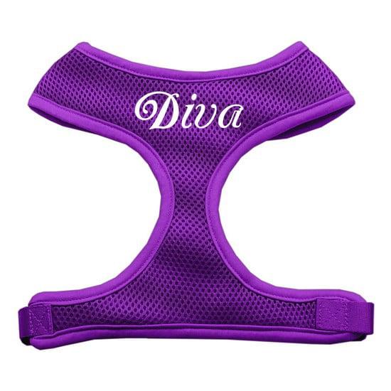 Mirage 70-10 SMPR Diva Design Soft Mesh Dog Harness Purple Small
