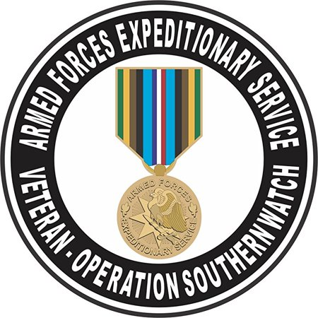 Southern Cal Watch (Armed Forces Expeditionary Medal Operation Southern Watch Decal 3.8 Inch Decal )