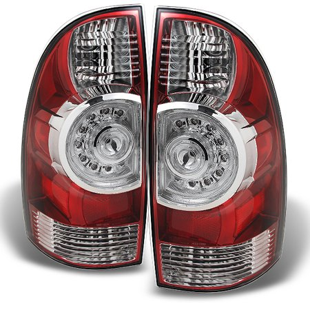 09 13 Toyota Tacoma Pickup Red Clear Led Tail Lights Brake Lamps Replacement