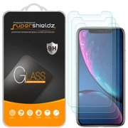 "[3-Pack] Supershieldz for Apple iPhone XR (6.1"") Tempered Glass Screen Protector, Anti-Scratch, Anti-Fingerprint, Bubble Free"