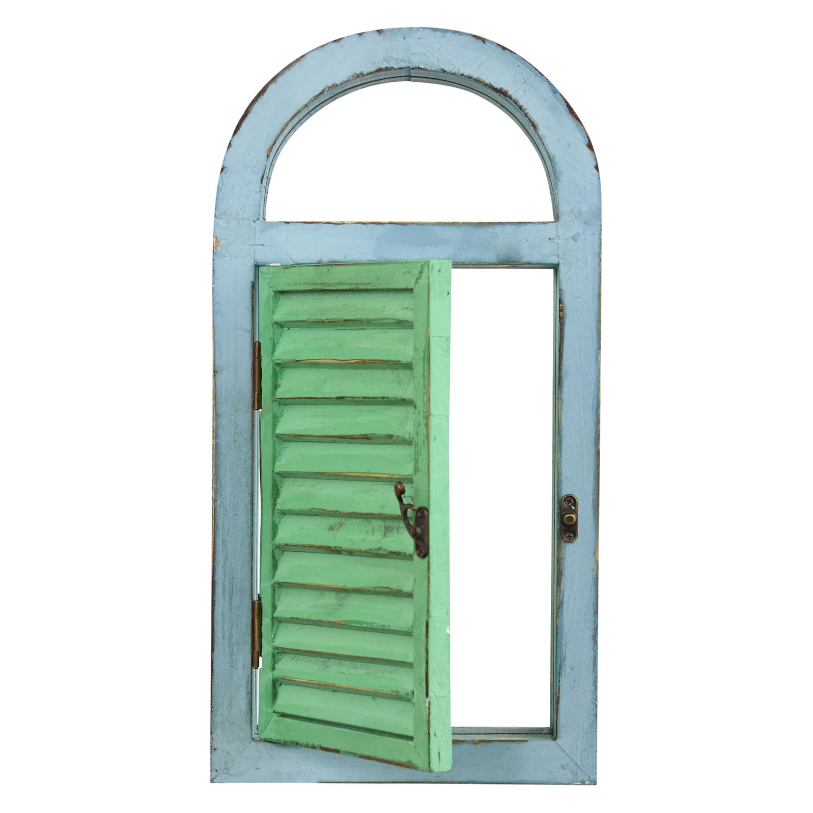 Nearly Natural Vintage Window Shutter and Mirror