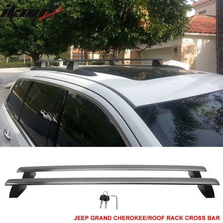 Fits 11-18 Jeep Grand Cherokee OE Factory Style Roof Rack Cross Bar w/ Key (Jeep Grand Cherokee Frame)