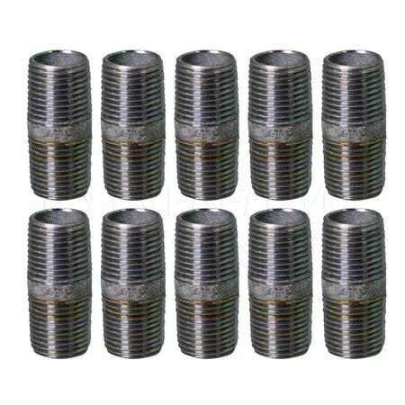 Everflow 1 1 4 x 6 Steel Pipe pre cut Industrial Pipe Threaded Pipe N