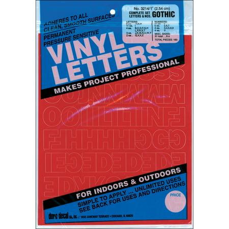 - Permanent Adhesive Vinyl Letters & Numbers 1