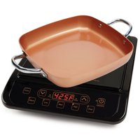 Copper Chef Stainless Steel Cerami-Tech Non-Stick Coating Power Induction Cooktop