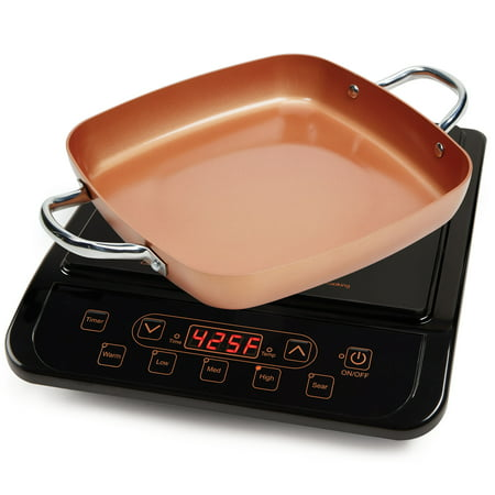 Copper Chef Stainless Steel Cerami-Tech Non-Stick Coating Power Induction (Stainless Steel Dual Oval Burner)