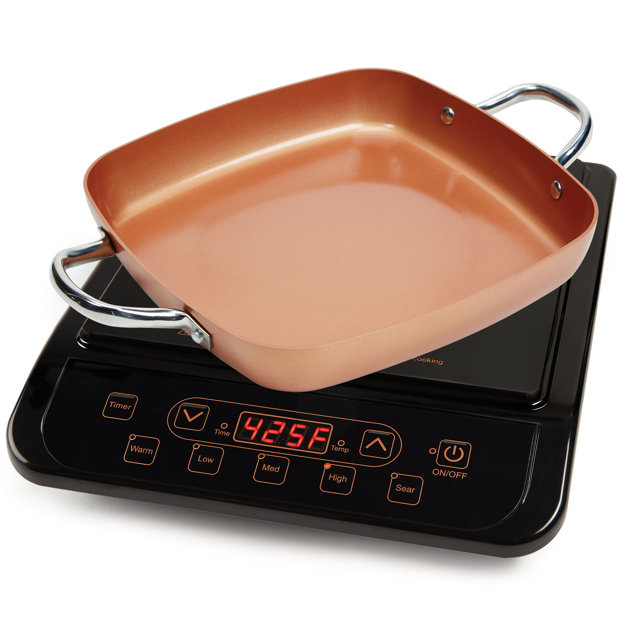 Copper Chef Stainless Steel Cerami-Tech Non-Stick Coating Power Induction Cooktop, 1 Each