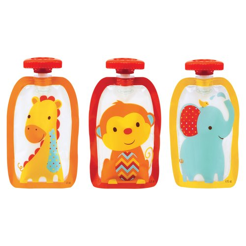 Infantino Fresh Squeeze Fashion Squeeze Pouches, 75 pc