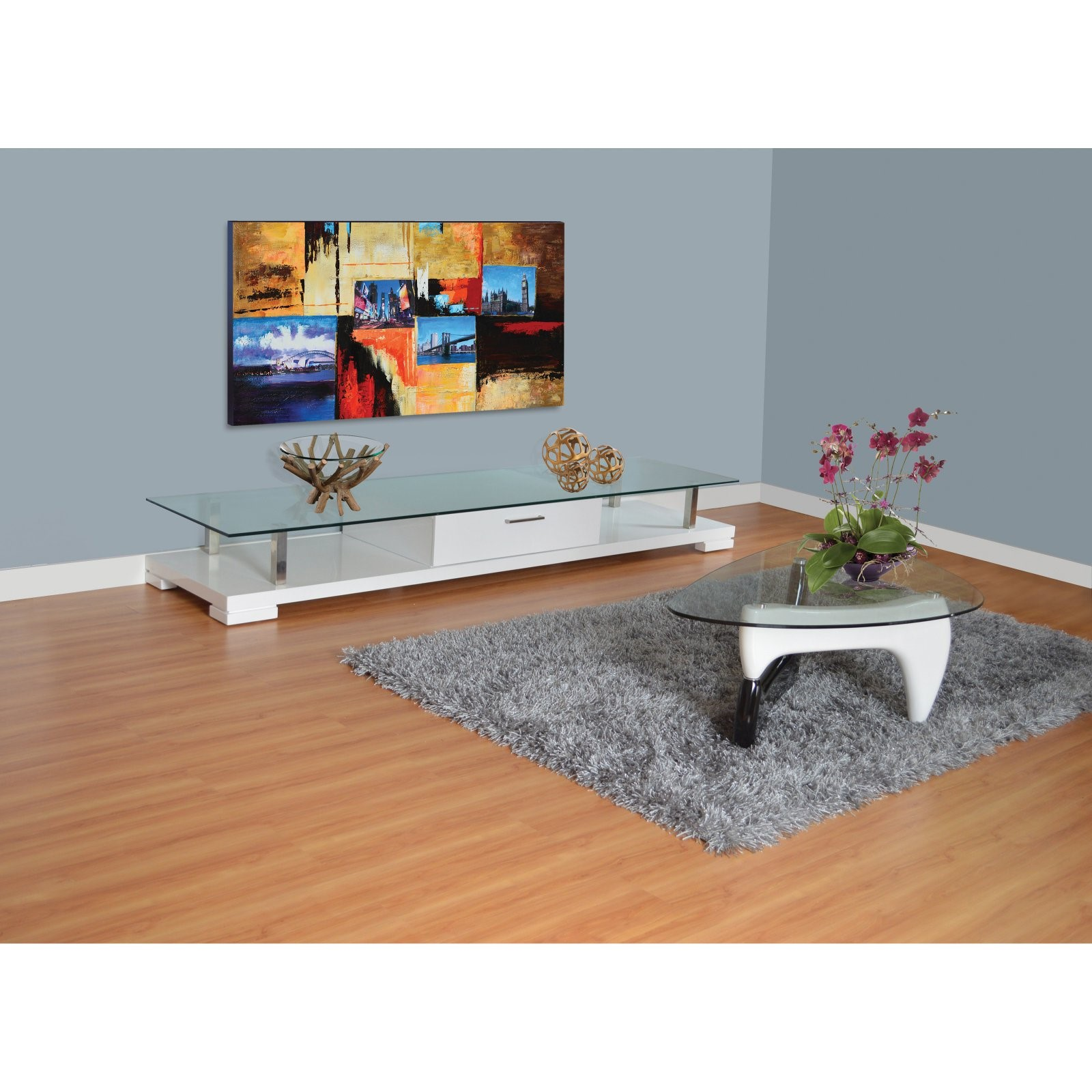 Eagle Furniture Glass Top TV Stand