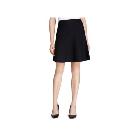 Theory Womens Lotamee Wool A-Line Knit (Check Wool Skirt)