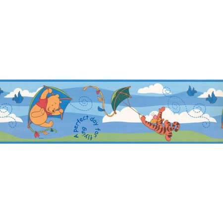 Retro Art Tiger Winnie the Pooh Disney Cartoon 15' x 6.5'' Wallpaper Border