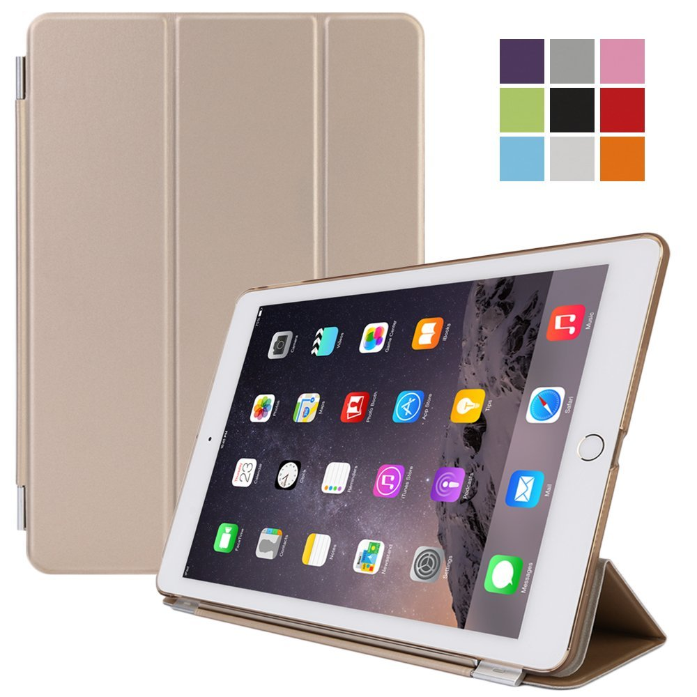 iPad air , CoastaCloud Magnetic Leather Smart Case Cover+BACK CASE For Apple iPad 5/Air 2 & Screen Protector & Cleaning Cloth & Stylus Touch Pen with Keyboard Stand Automatic Wake/Sleep Function(A1566