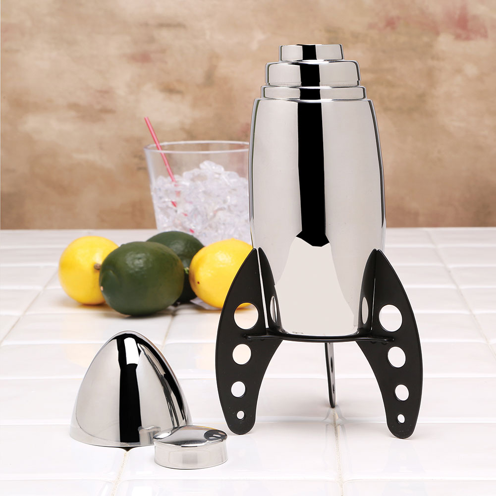 Rocket Ship Stainless Steel Cocktail Shaker