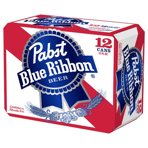 Pabst Blue Ribbon Beer 12 pack 12 fl oz Cans