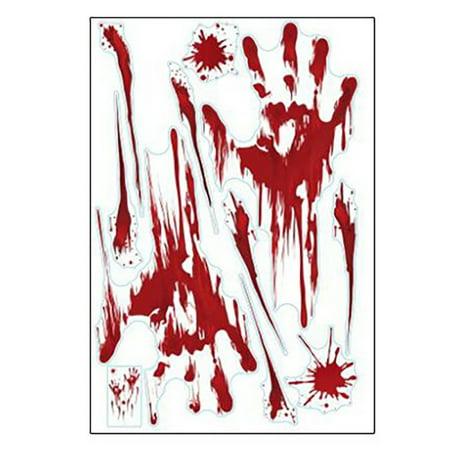 Halloween Handprint Ideas (Halloween Blood Handprint Blood Footprint Sticker Horror)