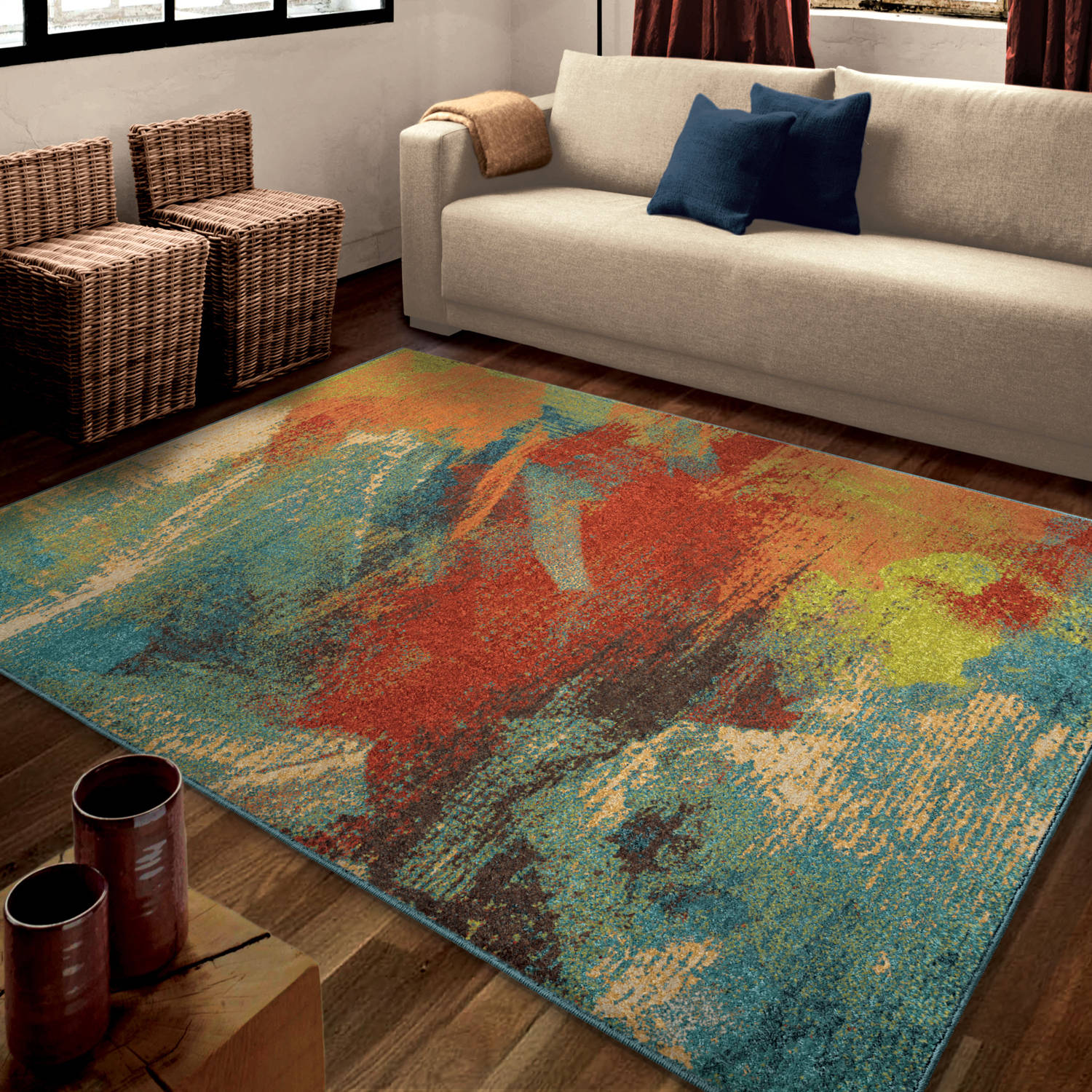 orian rugs bright opulence abstract multicolored area rug  - orian rugs bright opulence abstract multicolored area rug  walmartcom
