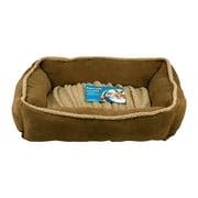 "Aspen Pet Shearling Rectangular Lounger Dog Bed, Dark Tan, 35""L x 27""W"