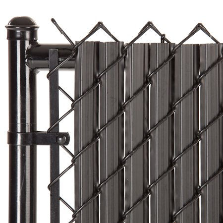 Maximum Privacy Black SoliTube Slats™ for 6ft Chain Link Fence (Vinyl Fence Slats)