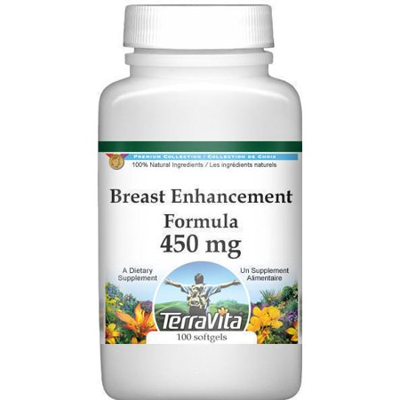 Breast Enhancement Formula - Fenugreek, Saw Palmetto and Wild Yam - 450 mg (100 capsules, ZIN: