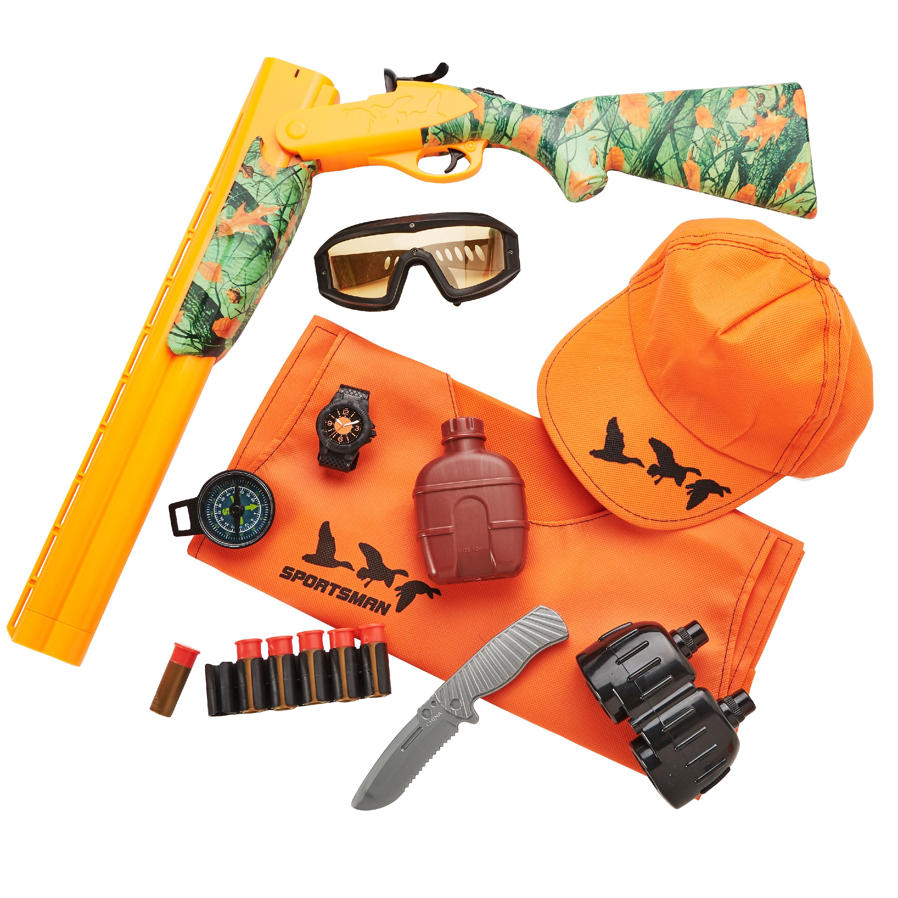 Adventure Force Sportsman Deluxe Action Roleplay Set, 16 Pieces