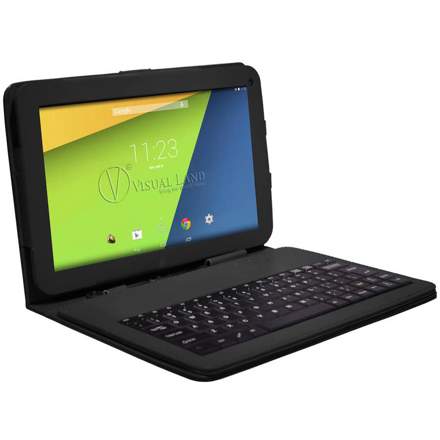 "Visual Land Prestige 7"" Quad Core Tablet 8GB includes Keyboard Case"