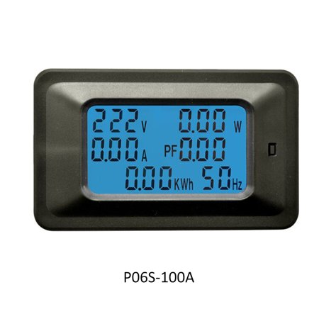 P06S-100A 6 IN 1 AC 110-250V Digital Voltage Meters Indicator LCD Power Energy Voltmeter Ammeter Current Amps Volt Wattmeter Tester Detector