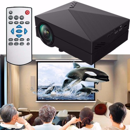 Portable Home Theater HD 1080P Mini LCD Projector with AV SD USB VGA Function Family Cinema Projector Day Best